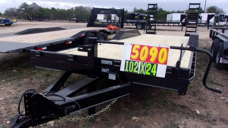 2020 VAR Trailers 102 x 24 14K Drive Over Fender Utility Trailer