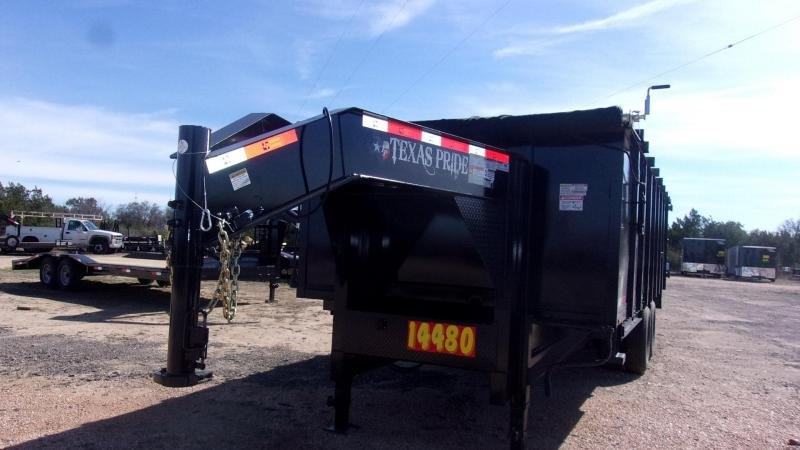 2020 Texas Pride 20' - 26K GVWR -14 Ply Tires Dump Trailer