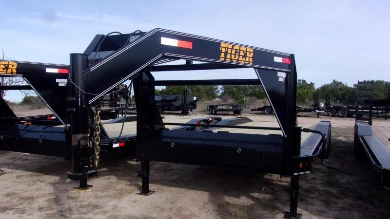 "2020 TIGER  - DRIVE OVER FENDER 102""X24' - GOOSENECK EQUIPMENT TRAILER"