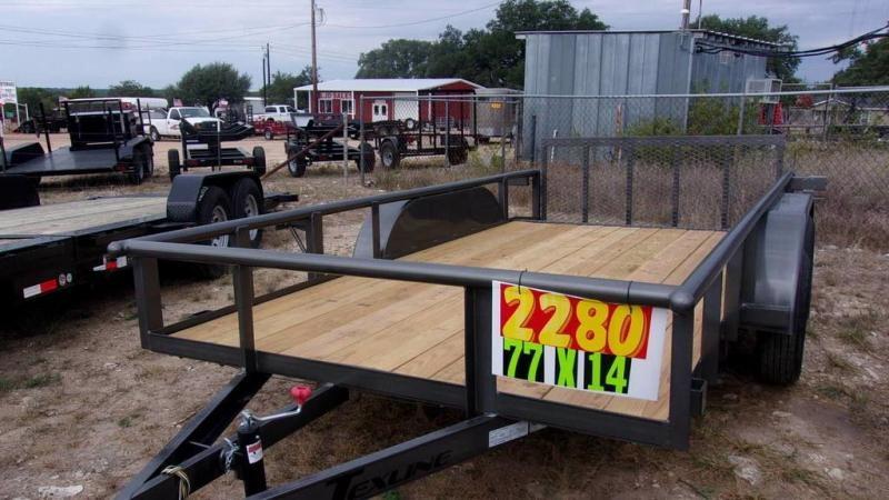 "2020 Texline 77"" x 14 Tandem Axle Utility Trailer"