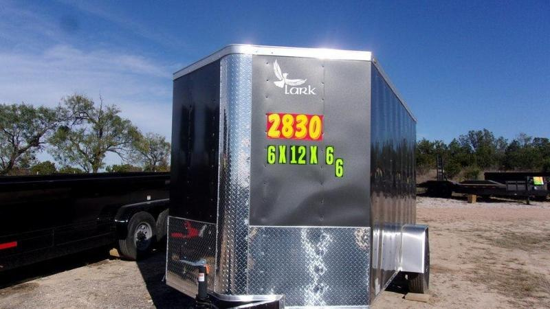 "2020 Lark 6 x 12 x 6'6"" Enclosed Cargo Trailer w/ Ramp"
