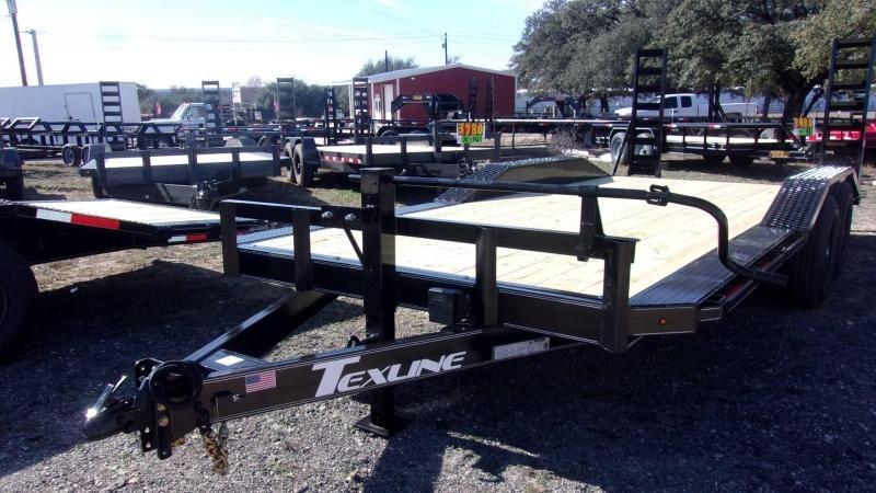 "2020 TexLine 102"" X 20' DRIVE OVER FENDERS Equipment Trailer"