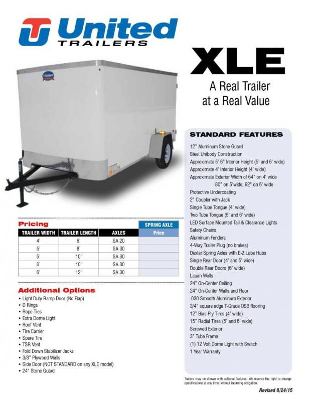 2020 United Trailers XLE Series Enclosed Cargo Trailer