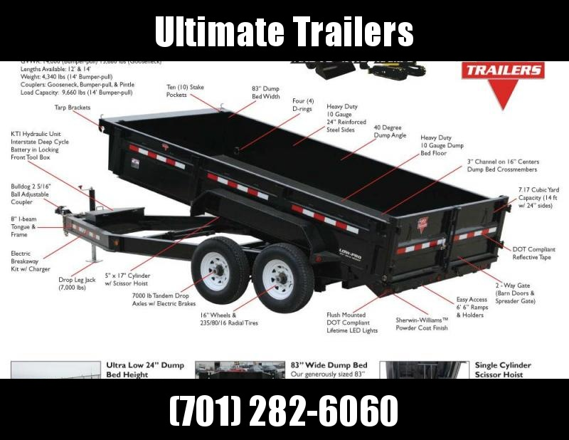 2020 PJ Trailers 83 Wide Dump - DL Series Dump Trailer
