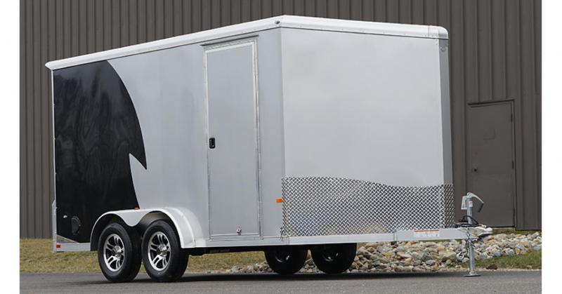 2020 NEO Trailers NAMR Round Top Slant Nose Motorcycle Trailer