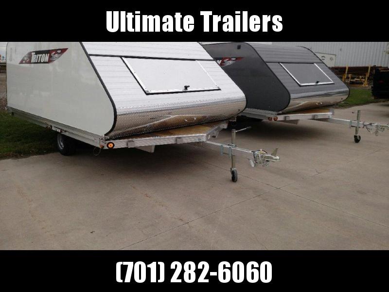 2020 Triton 8.5x12 Aluminum Triton Snowmobile Trailer w/cap