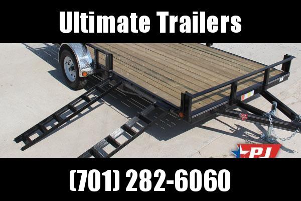 2020 PJ Trailers U821431DSBKAT Utility Trailer