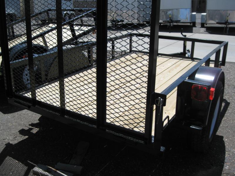 6X10 Utility Trailer Angle Rail and Ramp Gate