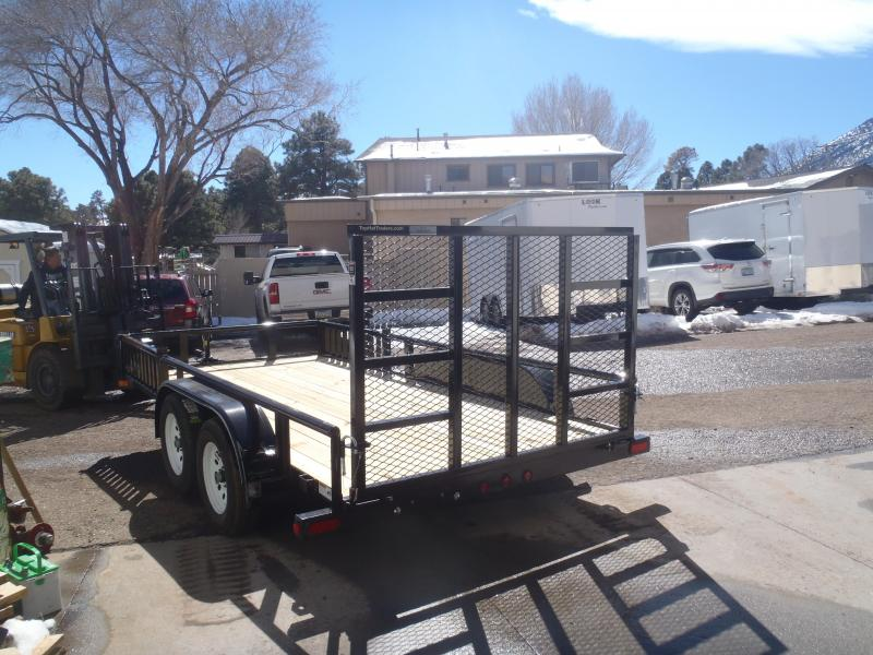 77X14 Tandem Axle Quad Ramps and Ramp Gate Utility Trailer