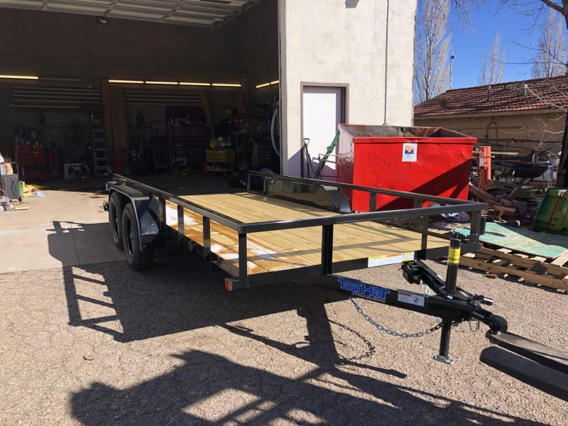 77X16 Light Duty Utility Trailer with pull out ramps