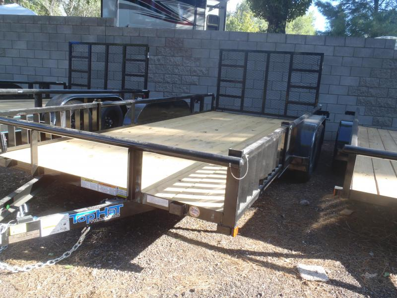 83X16  Pipe Rail with Quad rail ramps and Rear Ramp Gate