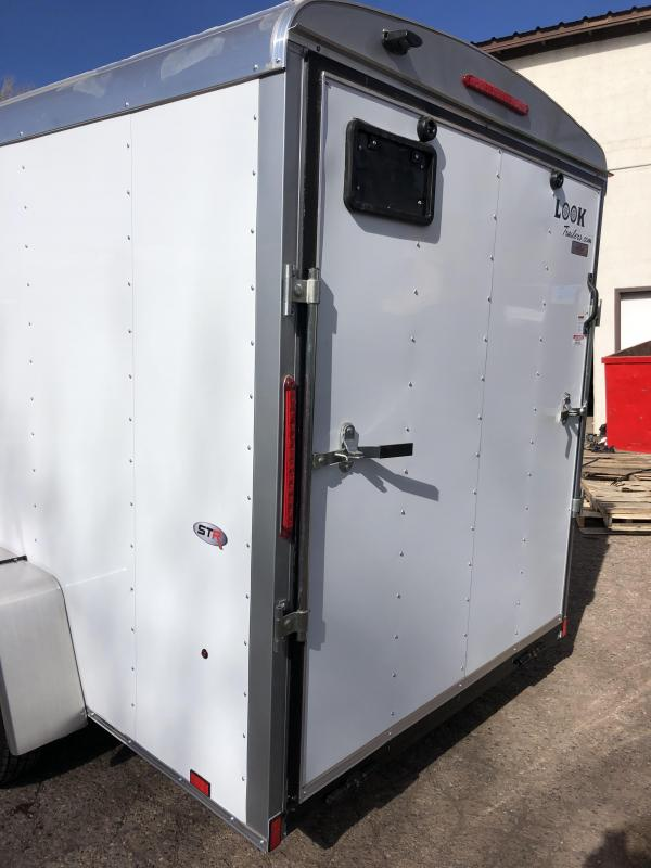 "6x12 Round Top Cargo Ramp Side Door 6'6"" Tall"