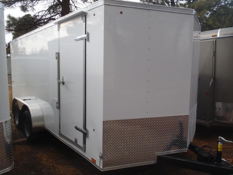 7x16 Enclosed Trailer Tandem Axle