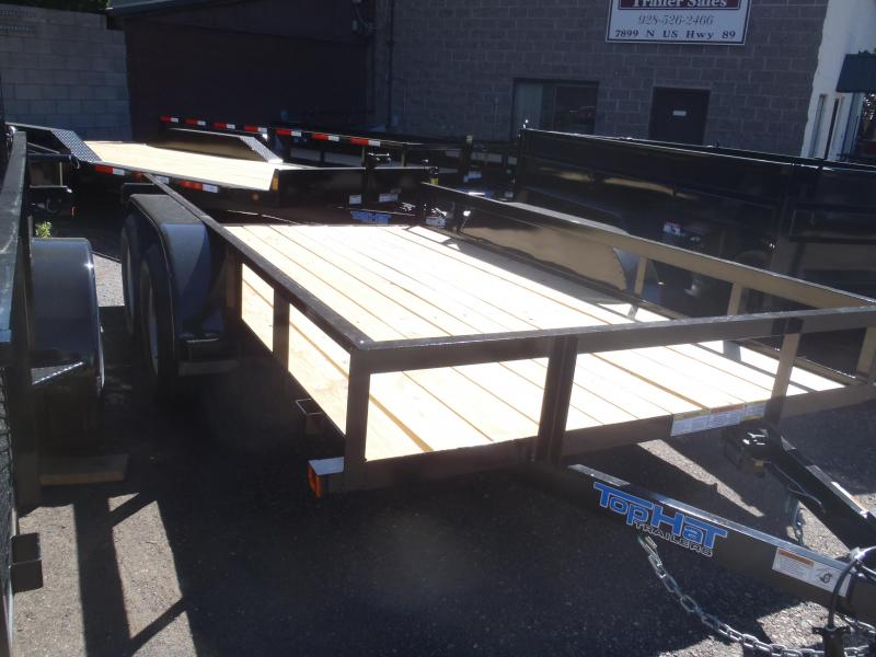 77X12 Tandem Axle Angle Rail Utility Trailer