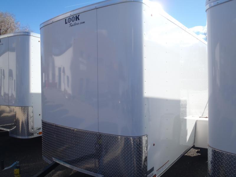 """6x12 ST Cargo Barn Doors Side Door 6'6"""" Tall"""
