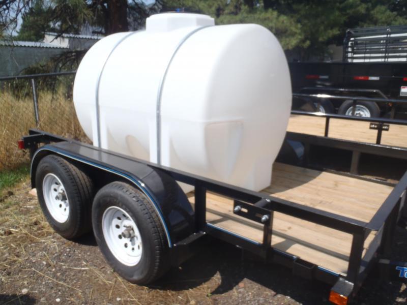 Water Trailer 5x10 Tandem Axle pipe Rail Utility Trailer