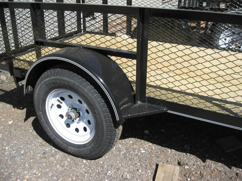 5X10 Lanscaper Utility Trailer with 2' Expanded Metal Sides