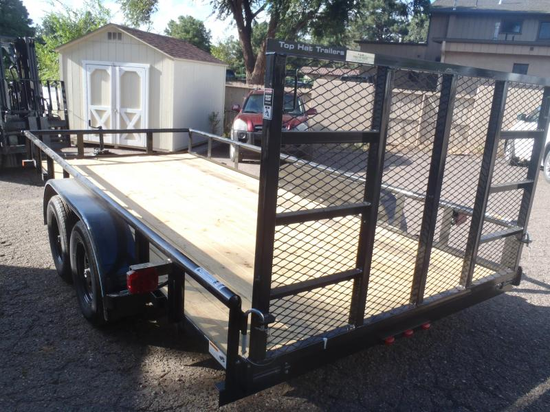 83X16 Utility Trailer  Pipe Rail and Rear Ramp Gate