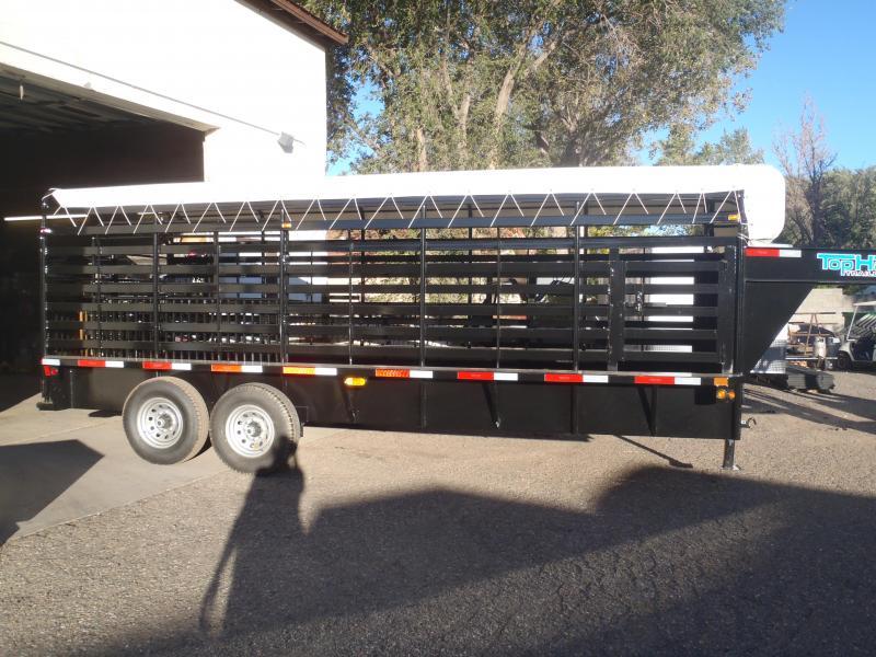 6.8X20 Gooseneck Stock Brahma Livestock Trailer