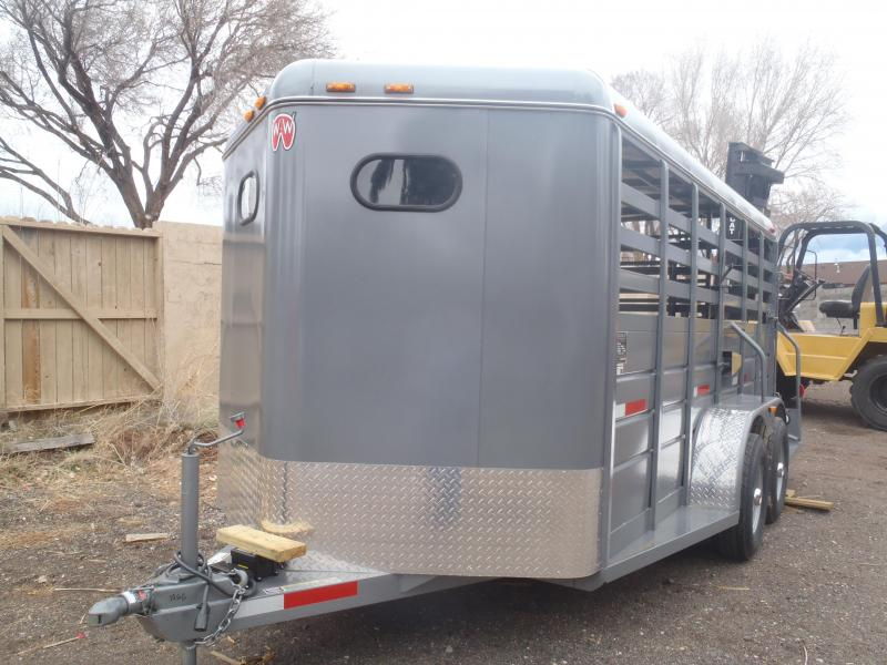 6.8x16 All around Stock Trailer made by W-W Trailers