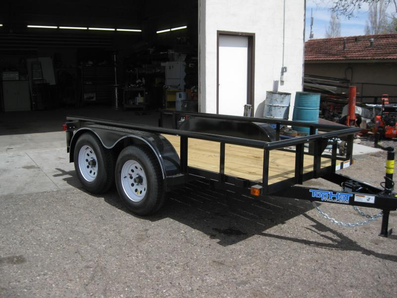 5x10 Tandem Axle Angel Rail Utility Trailer