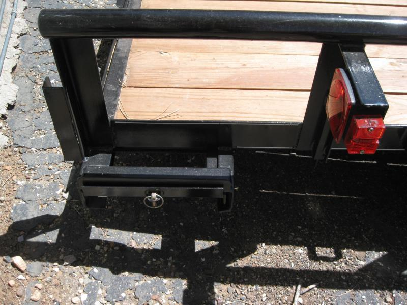 83X18 Utility Trailer with Pipe Rail and 4' Pull-out ramps