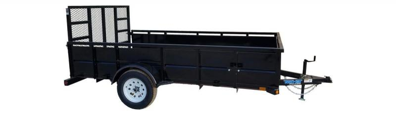 77X12 High Side landscaper Utility Trailer with ramp gate