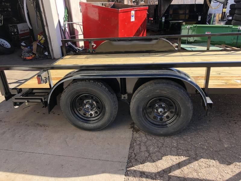 77X14 Light Duty Utility Trailer with pull out ramps