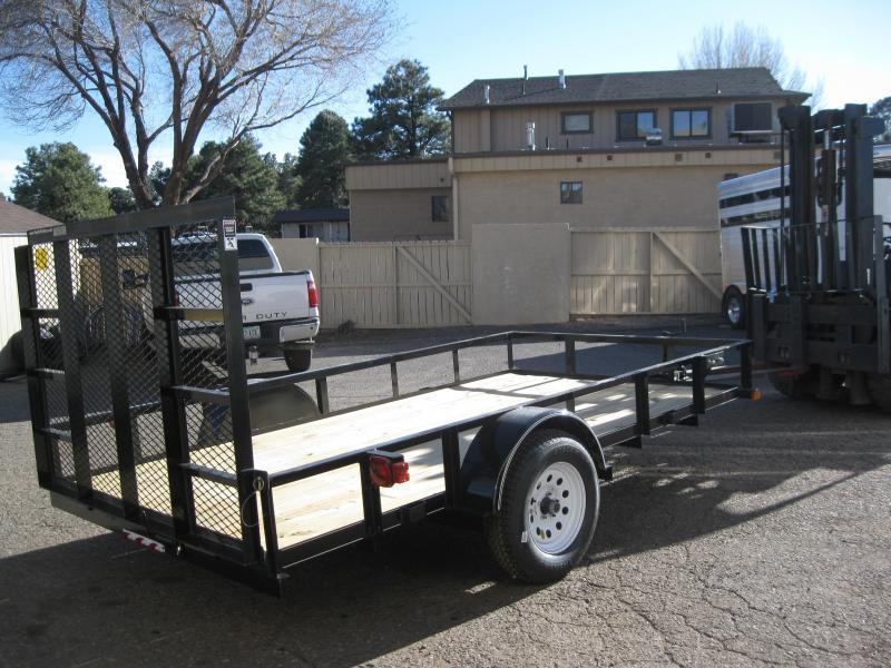 77X14 Angle Rail Utility Trailer with ramp gate