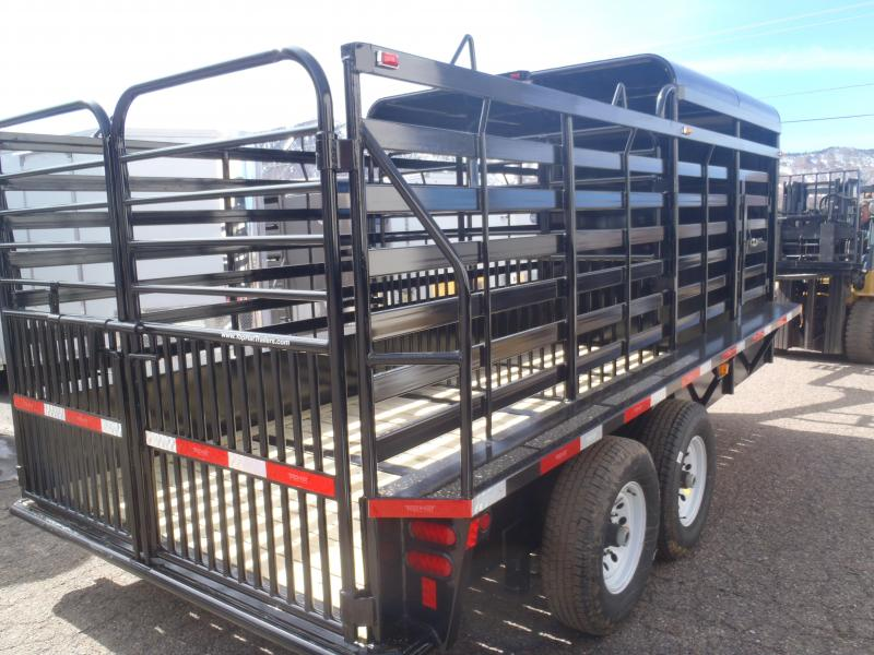 6.8X16 1/2 Top Gooseneck Stock Brahma Livestock Trailer