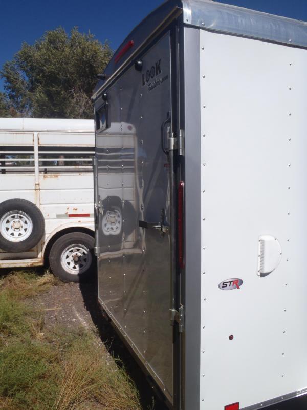 """6x12 Round Top Cargo Ramp Side Door 6'6"""" Tall"""