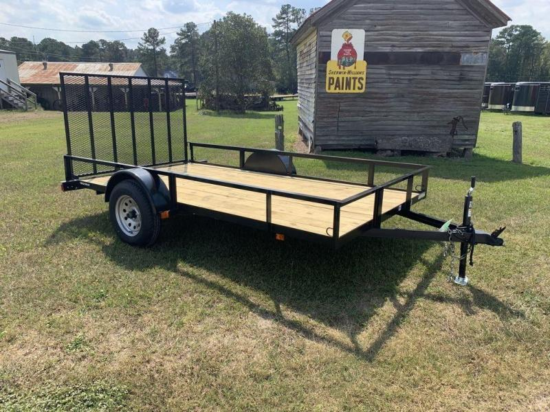 "2019 Triple Crown Trailers 6'4""X12 Single Axle Utility Trailer"