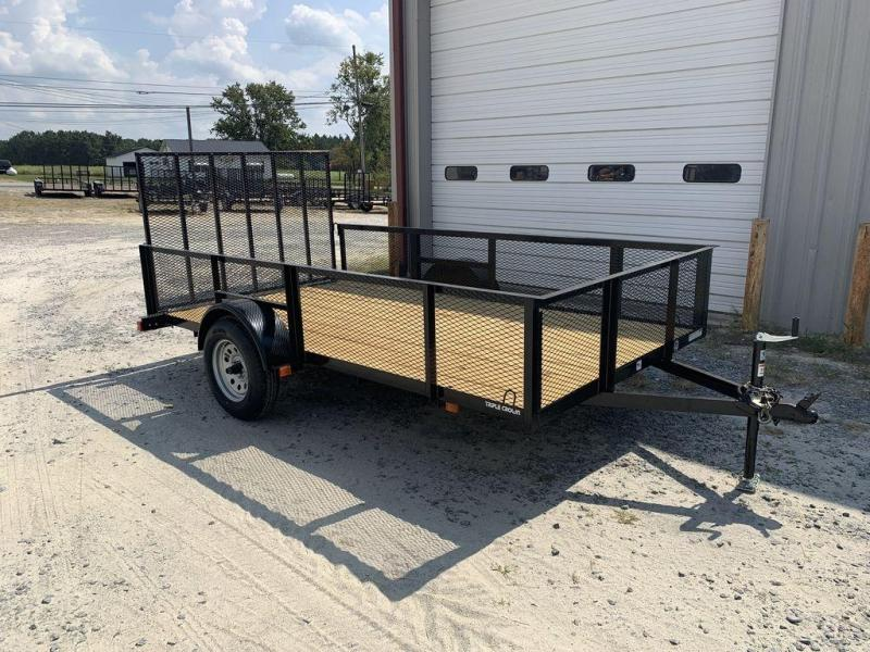 "2019 Triple Crown Trailers 6'4""X12 Single Axle Utility Trailer w/ Mesh"