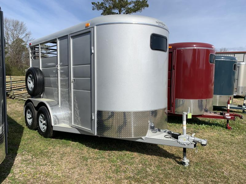 2020 Calico Trailers 2H BP Drop Windows Horse Trailer