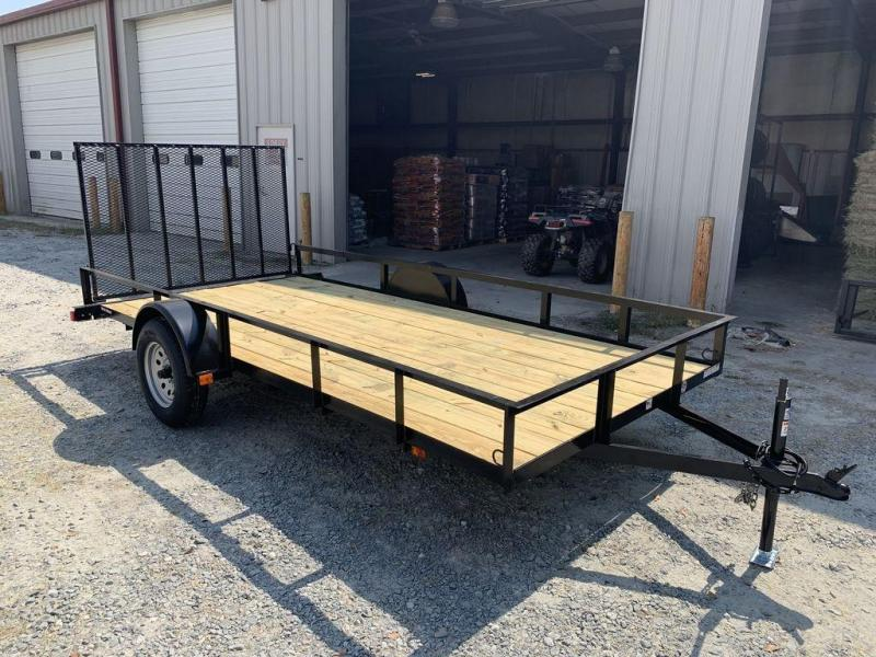 "2019 Triple Crown Trailers 6'4""X14Single Axle Utility Trailer"