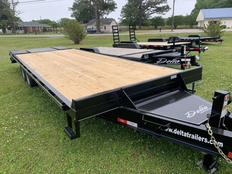 2020 Delta 25' 14k Equipment Trailer W/Center Pop Up Ramp