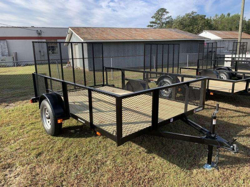 "2019 Triple Crown Trailers 6'4""X10 Single Axle Utility Trailer w/ Mesh"