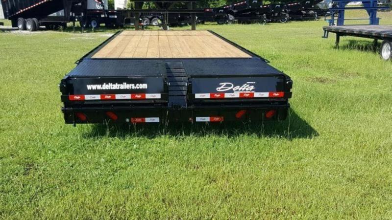 2020 Delta 28' 14k Equipment Trailer W/Center Pop Up Ramp