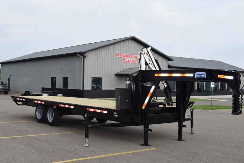 2020 NATION 20' ATL-250 GOOSENECK CRANE TRAILER