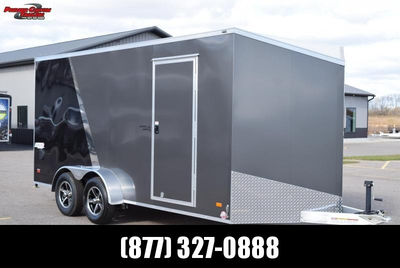 2020 BRAVO 7x16 SILVER STAR ALUMINUM ENCLOSED CARGO TRAILER