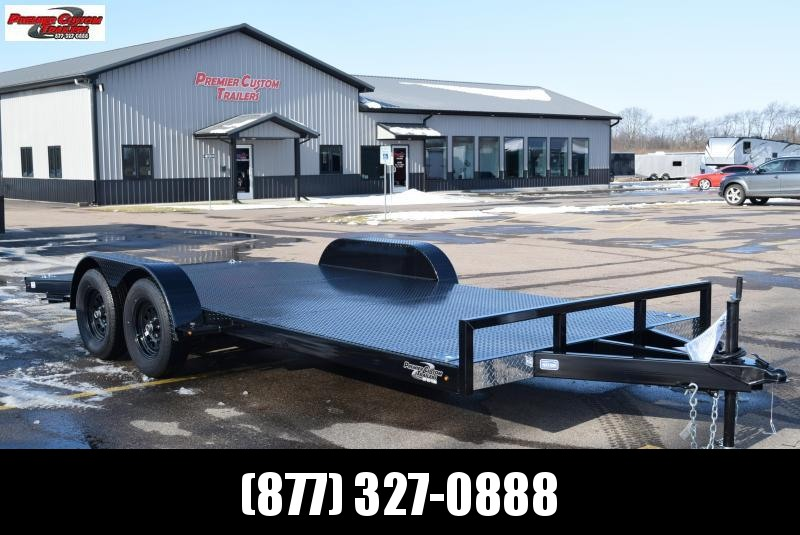 2020 NATION 18' TUBE FRAME OPEN CAR HAULER w/ STEEL DECK
