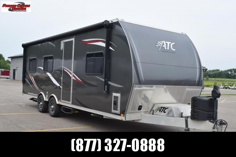 USED 2018 ATC 8.5x25 ALL ALUMINUM TOY HAULER w/ FRONT BEDROOM