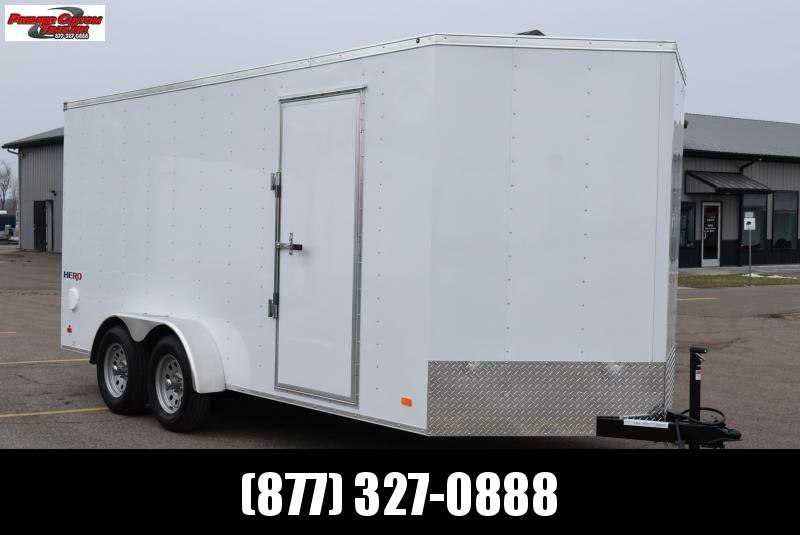 2020 BRAVO HERO 7x16 ENCLOSED CARGO TRAILER