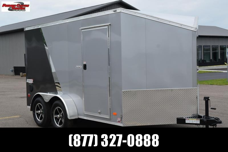 2020 BRAVO SCOUT 7x12 ENCLOSED MOTORCYCLE TRAILER