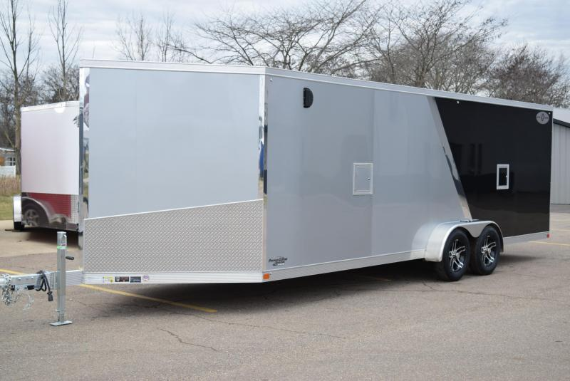 2020 SPORT HAVEN 7x27 SPORT PLUS ALUMINUM SNOWMOBILE/UTV TRAILER