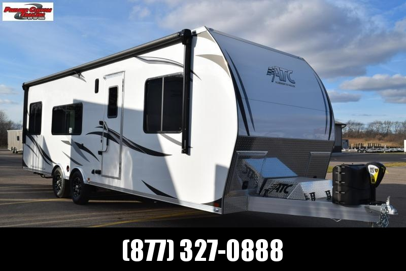 2020 ATC ALL ALUMINUM 8.5x28 TOY HAULER w/ FRONT BEDROOM AND  5.5kw GENERATOR