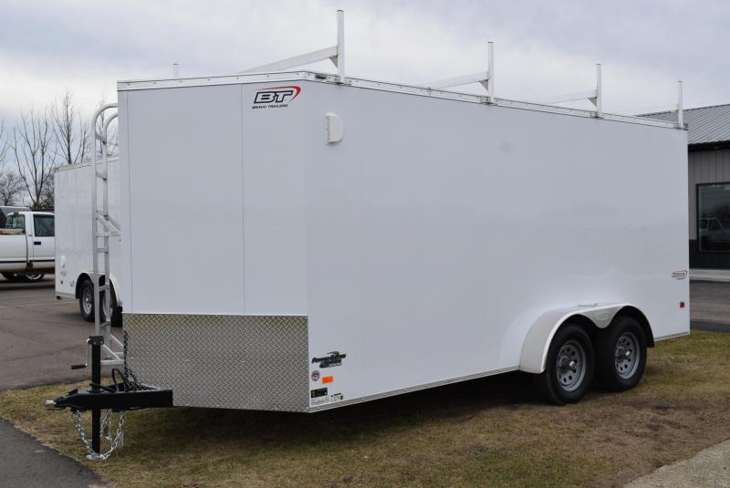 2020 BRAVO 7x16 CUSTOM CONTRACTOR TRAILER w/LADDER RACKS