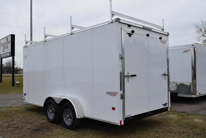 2020 BRAVO 7x16 ENCLOSED CONTRACTOR TRAILER w/LADDER RACKS