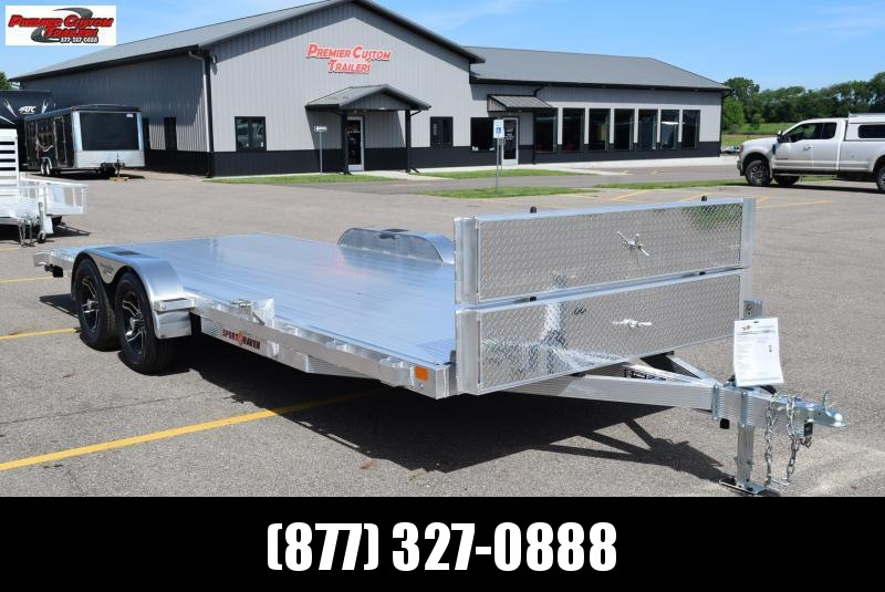 2020 SPORT HAVEN 20' DELUXE ALUMINUM OPEN CAR HAULER