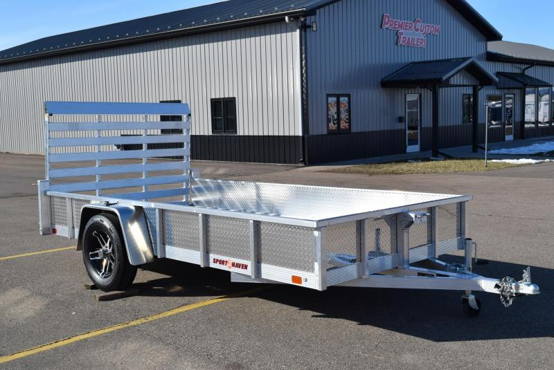 2020 SPORT HAVEN 6x12 DELUXE SERIES UTILITY TRAILER w/ ATP SIDES